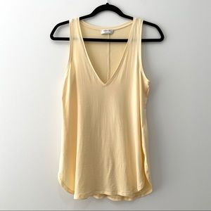 Aritzia Babaton Zayn V-Neck Tank Top - Pale Yellow